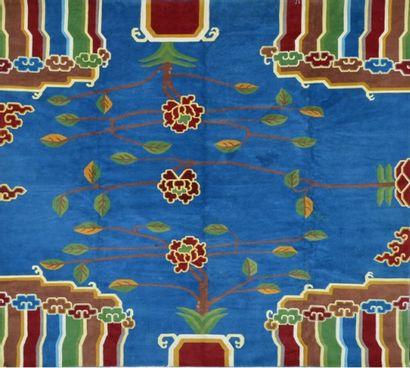 Original et important tapis Chine (Shanghaï)...