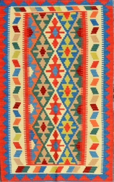 Kilim Quasgaï (Iran) vers 1980  Travail à...