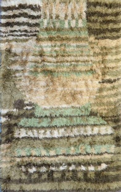 Original tapis moderne contemporain XXème....