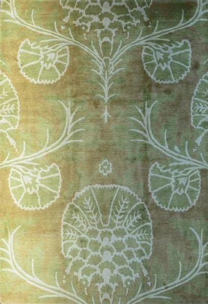 Grand tapis moderne contemporain XXème.  Velours...