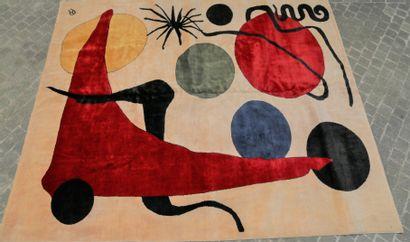 Tapis moderne contemporain XXe siècle  Carton...