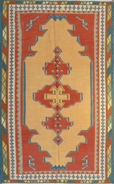 Grand Kilim Quaigaï (Iran) vers 1975.  Travail...