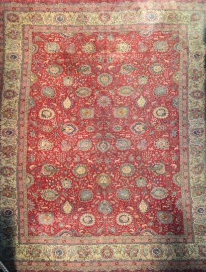 Important tapis Tabriz (Nord Ouest de l'Iran)...