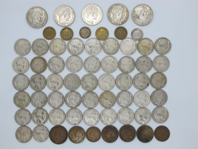 Lot de pièces de monnaies en francs