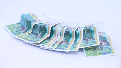 10 billets de 500 francs français Marie et...