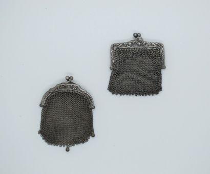 2 petits portemonnaies cotte de maille en...