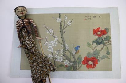 Chine XXe siècle  Oiseau sur une branche...
