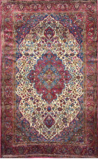 Fin Kachan en soie (Perse) fin XIXe siècle...