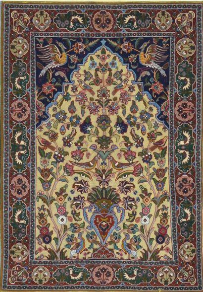 Fin Kachan soof en soie (Iran) vers 1980...