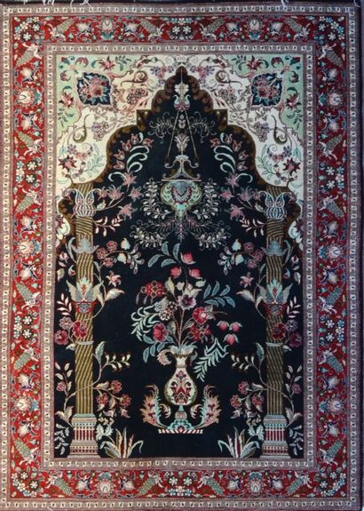 Original et fin Ghoum en soie (Iran) vers...