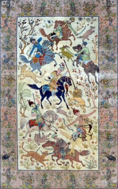 Original, grand et fin Indien en laine et...