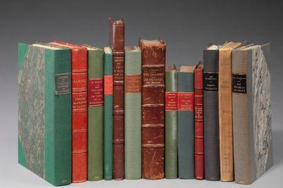 [GÉOGRAPHIE]. 13 ouvrages in-8 et in-12 en...