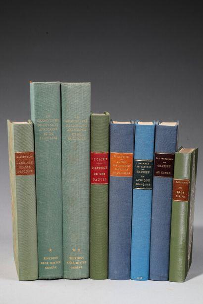 [GÉOGRAPHIE - AFRIQUE]. 7 ouvrages en 8 volumes...