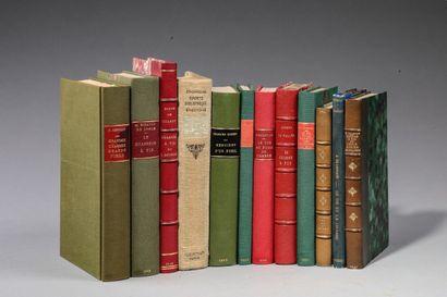 [TIR]. 12 ouvrages in-8 et in-12 en demi-chagrin...