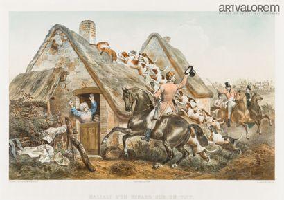 D'après F.GRENIER (1793-1867)  Hallali d'un...