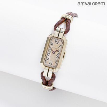 Montre bracelet de dame en or gris 750°/°°...