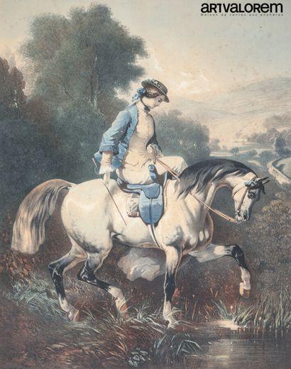 D'après Alfred de DREUX (1810-1860)  La vie...
