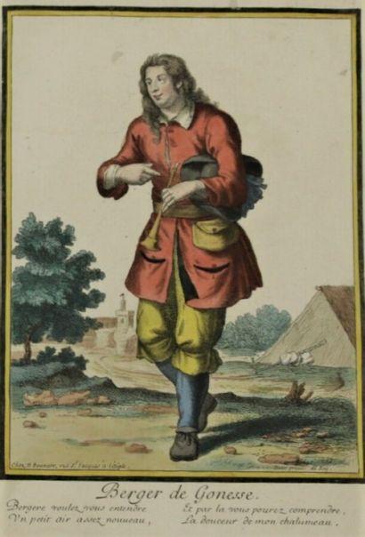 Nicolas BONNARD (1637?-1718)  Berger et Bergère...