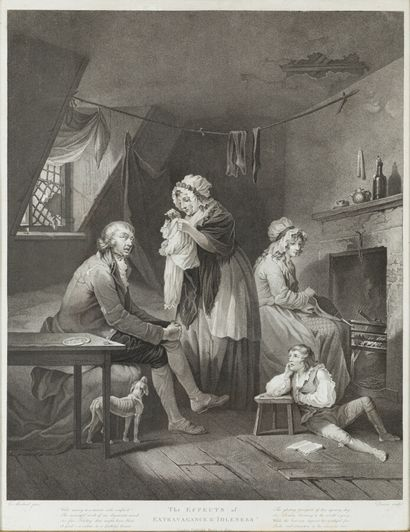 G.MORLAND (1763-1804)  The effects of extravagance...