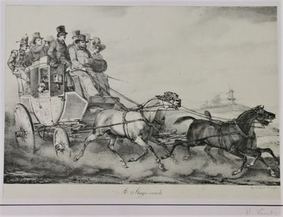 Horace VERNET (1789-1863)  A stage-coach...