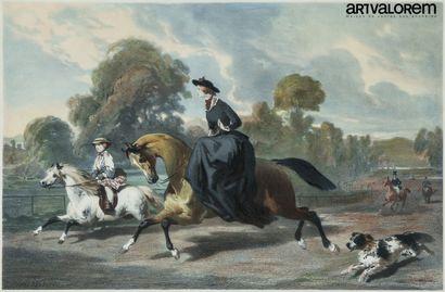 D'après Alfred de DREUX (1810-1860) gravé...