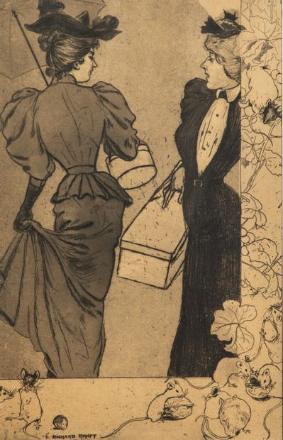 Richard RANFT (1862-1831)  Le Trottin. 1894...