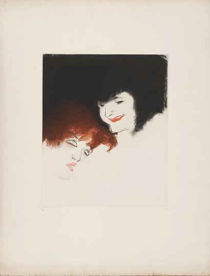 VERTES Marcel (1895-1961)   Deux amies  Eau-forte...