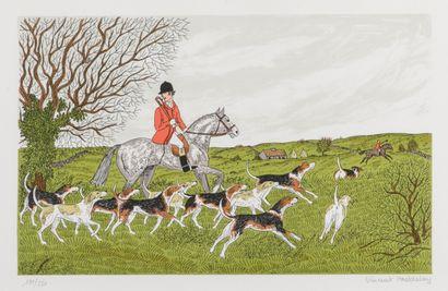 Vincent HADDESLSEY (1934-1910)  La chasse...