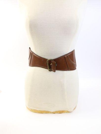 ALAIA  Lot de deux ceintures  L'une en daim...