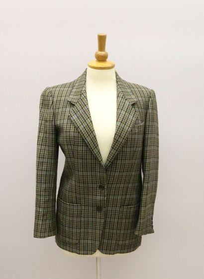 BURBERRYS'  Veste en laine à motif tartan...