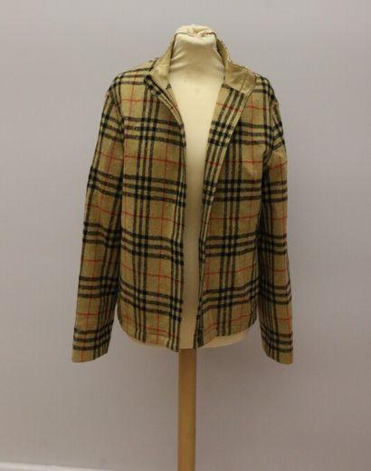 BURBERRY Golf  Blouson en laine mélangée...