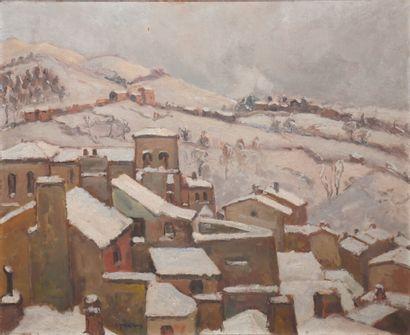 LEPREUX Albert (1868-1959)  Village sous...