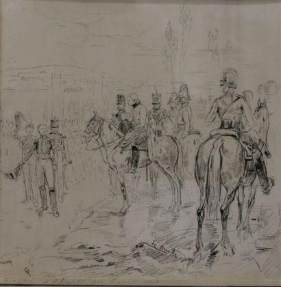 Attribué à Alphonse DE NEUVILLE (1835-1885)....