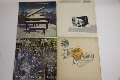 Lot de 13 vinyles: Supertramp, Rod Stewart,...