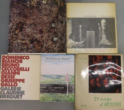 Ensemble de quatre ouvrages.  Alberto Giacometti...