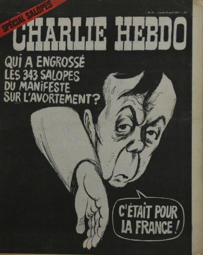 CHARLIE HEBDO 12 avril 1971 Special Salopes...