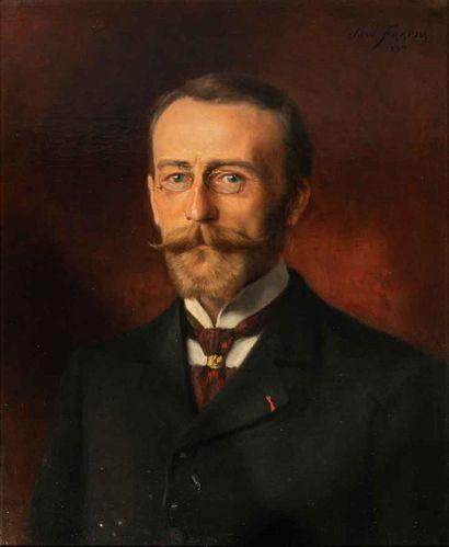 José FRAPPA (1854-1904)  Portrait d'homme...