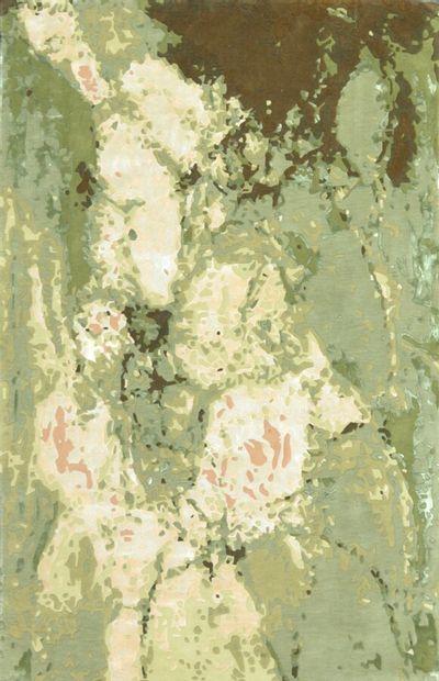 Grand tapis moderne contemporain tufté XXème....