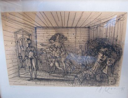 Jean CARZOU (1907-2000)  Femmes nues  Lithographie...