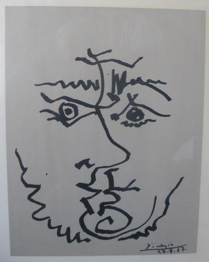 Pablo PICASSO (1881-1973)  Visages  Sérigraphie...