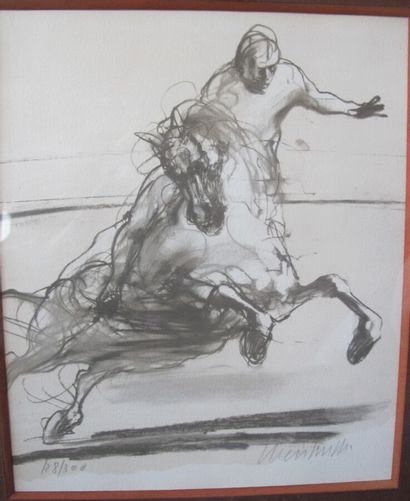 Claude WEISBUCH (1927-2014) (d'après)  Cavalier...