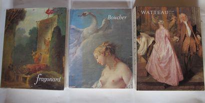 [MONOGRAPHIES]  Trois ouvrages sur Fragonard,...