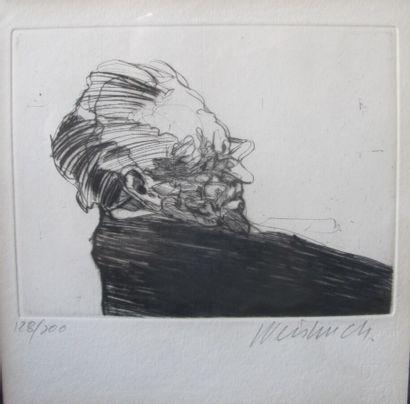 Claude WEISBUCH (1927-2014) (d'après)  Portrait...