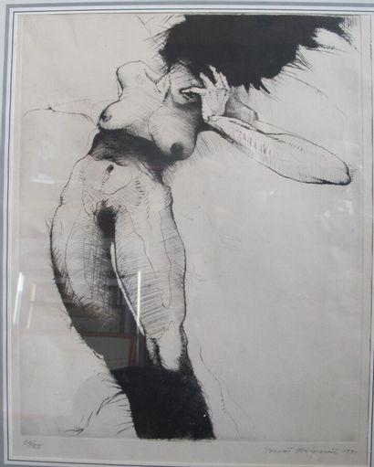 Tomas Hrivnac (XXe)  Femme nue  Lithographie...