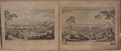 Vue de Buda et Vue de Bresburg, Hongrie....