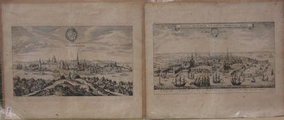 Vue de Stockholm et Vue de Copenhague. deux...