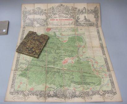 Carte de la forêt de Fontainebleau. On y...