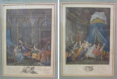 Deux gravures en couleurs