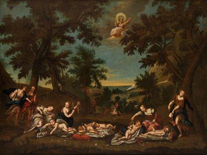 Ecole ITALIENNE du XVIIème siècle, suiveur de l'ALBANE