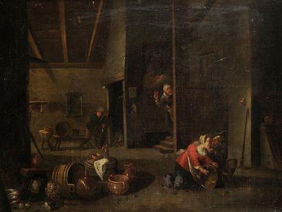 Ecole FLAMANDE du XVIIème siècle, suiveur de David TENIERS